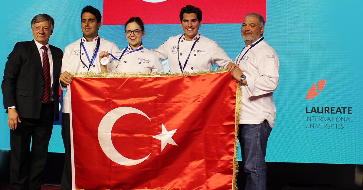 BİLGİ Gastronomy and Culinary Arts students receive Gold Medal at Laureate Culinary Cup 2018.