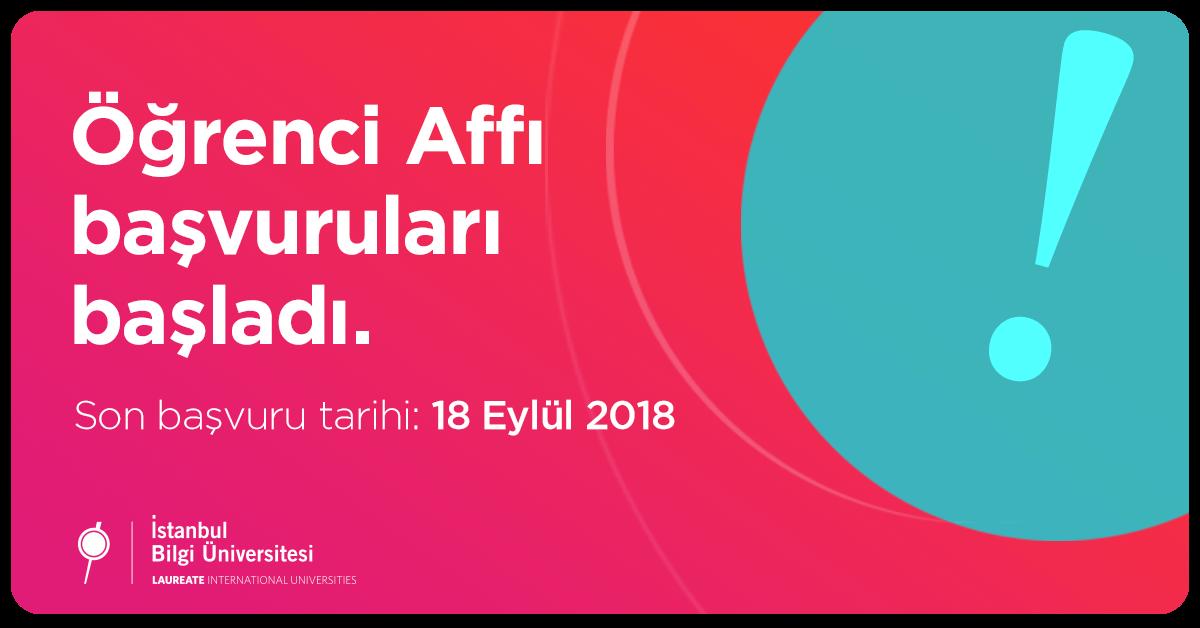 öğrenci Affı Duyurusu Haberler Duyurular Arşivi Istanbul Bilgi