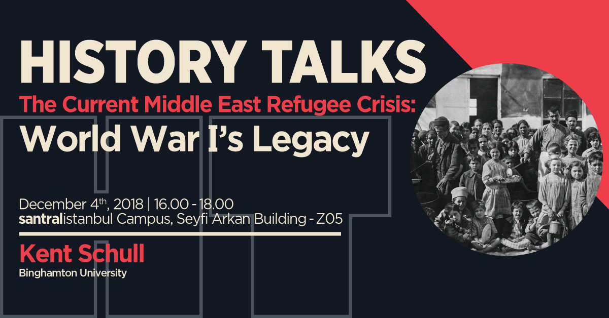 "​History Talks: ""The Current Middle East Refugee Crisis: World War I's Legacy"""