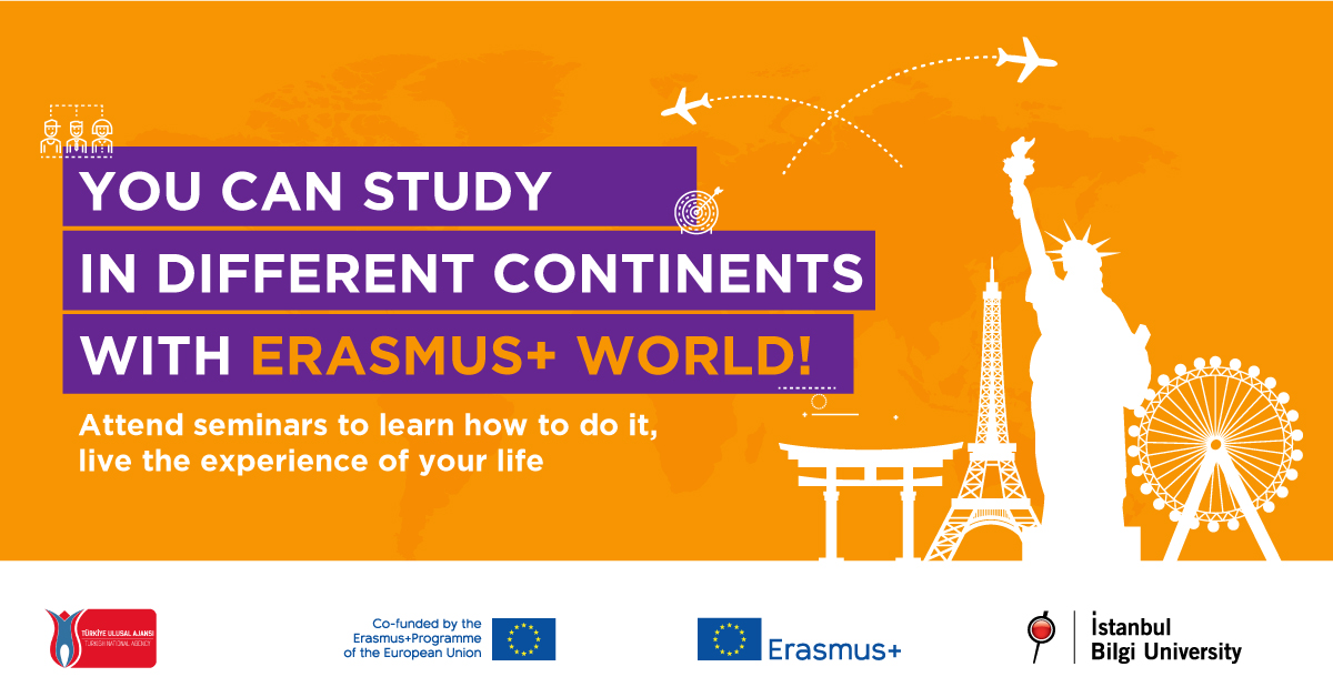 You can Study in Different Continents with Erasmus+ World